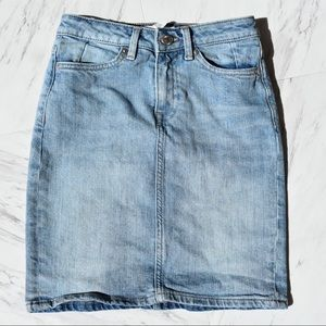 H&M High Waisted Denim Skirt  Light Wash L.O.G.G.